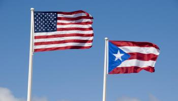 United States flag and Puerto Rico flag