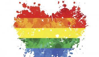 Rainbow colored heart